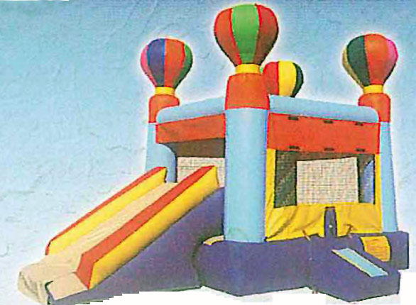 13'x13' Combo Bounce House w/6' Slide BALLOON TOP