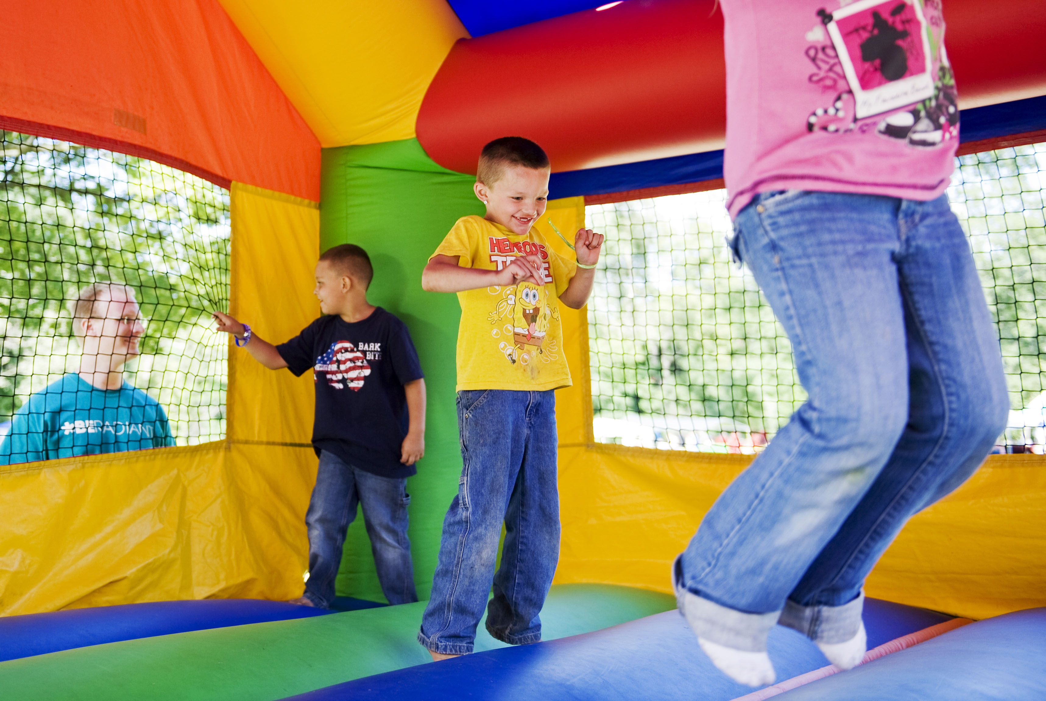 Great bounce house jumping party
